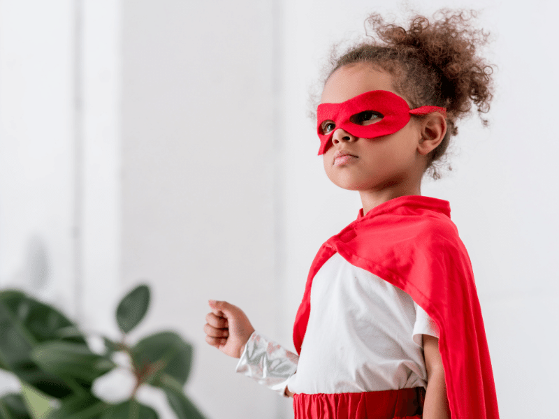 masks and costumes play a big role in children's play therapy