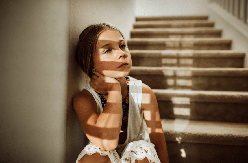 Elementary age girl seeking help for depression