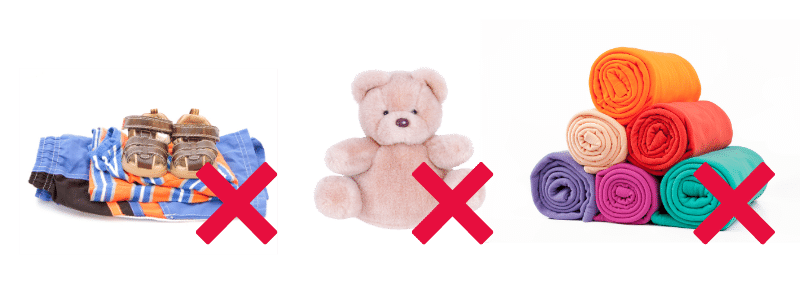 childsavers does not accept the following donations