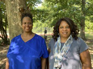 Andrea, owner of ASL Daycare, and ChildSavers Program Coordinator, Dorothy Billups, share a smile.